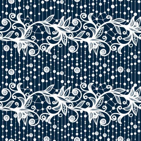Abstract seamless pattern en dentelle avec des fleurs et des papillons.