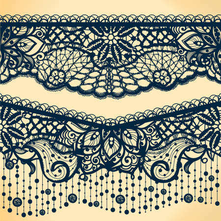 Abstract Lace Ribbon Banners, Arabic Stripes Pattern.Template ...