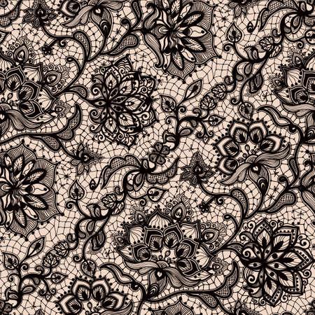 Abstract seamless pattern en dentelle avec des fleurs et des papillons. fond d'écran Infiniment, décoration pour votre conception, la lingerie et des bijoux. Vos cartes d'invitation, papier peint, et plus encore. Banque d'images - 51376189
