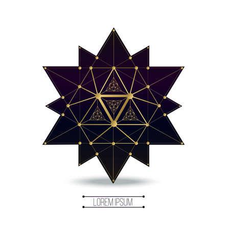 Heilige geometrie vormen, vormen van lijnen, logo, teken, symbool.