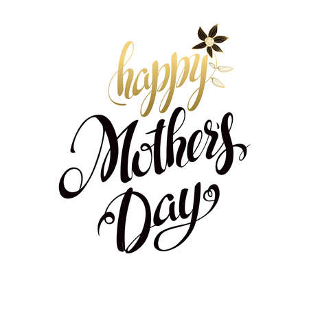 signs and symbols: Happy Mothers Day Lettering,Typographical Design. Isolate Symbols. Mothers Day Signs. Text Design.Vector illustration Illustration