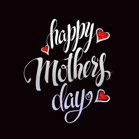 Happy Mothers Letteringtypographical Design Isolate Symbols