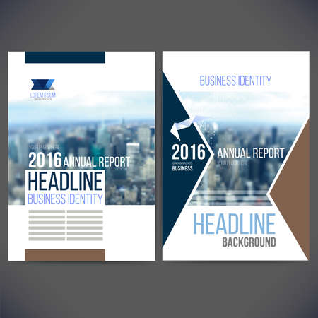 template design annual report 2016 with background, brochure, web sites, page, leaflet cover presentation, abstract design, layout with colorful picture, and text separately