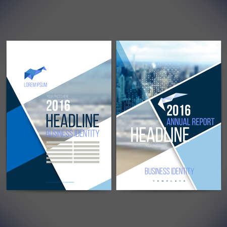 template design annual report 2016 with background, brochure, web sites, page, leaflet cover presentation, abstract design, layout with colorful picture 일러스트