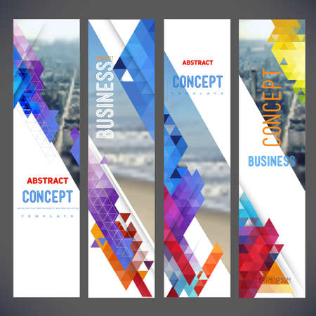 Vector set of banners, layout with colorful cityscape, space for  text.Design for Brochure, web sites, page, leaflet cover presentation, abstract design for layout 일러스트