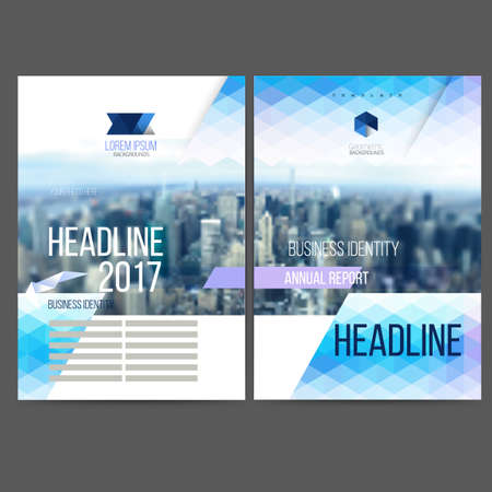 Vector template design annual report 2017, brochure, web sites, page, leaflet cover presentation, abstract design, layout with colorful picture,  text separately for you. 스톡 콘텐츠 - 110177355