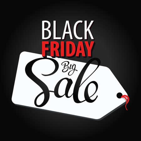 Black Friday Big Sale vector concept. Inscription design black Friday banners.