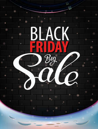 Black Friday Big Sale vector concept. Inscription design black Friday banners.