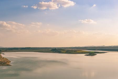 gujarat: Sky Reflection on a Lake Stock Photo