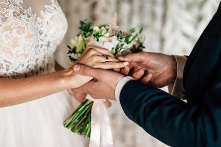 Exchange of wedding rings white