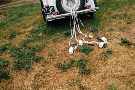bruiloft oude auto diensten