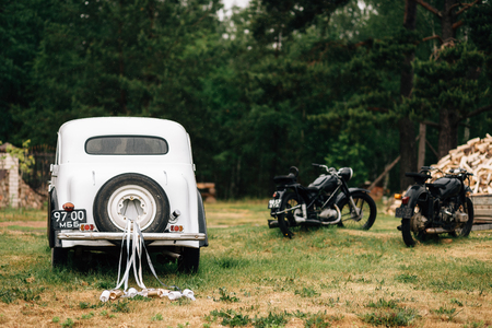 Services voor bruiloft oude auto's