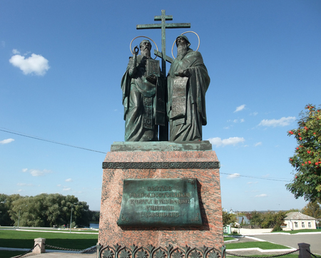 turism: A monument to Cyril and Methodius in Kolomna