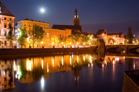 wroclaw: wroclaw at night Stock Photo