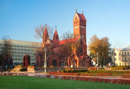 minsk: Minsk, Belarus, Church of Saint Simon and Helena Stock Photo