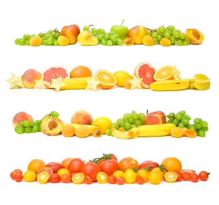 collection of fruit and vegetable backgrounds Standard-Bild