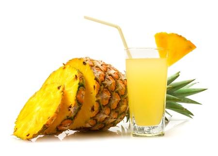 pineapple  glass: pineapple juice
