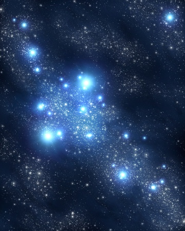 stars and nebulae Standard-Bild