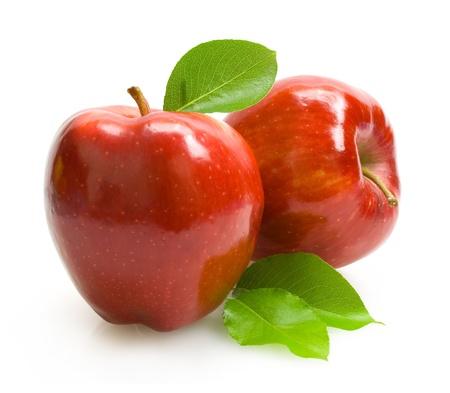 manzana roja: manzanas rojas
