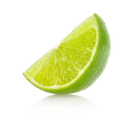 lime fruit: lime slice Stock Photo