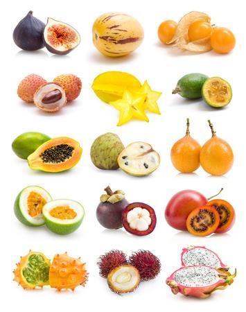 Exotische Früchte Sammlung Standard-Bild - 12063880
