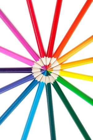color pencils on white background Stock Photo - 12070454