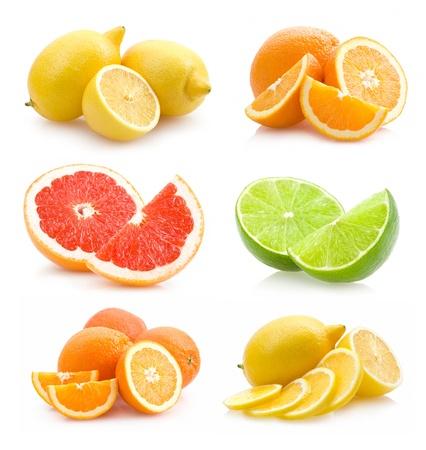 Sammlung von verschiedenen Zitrusfrüchten Standard-Bild - 12232708