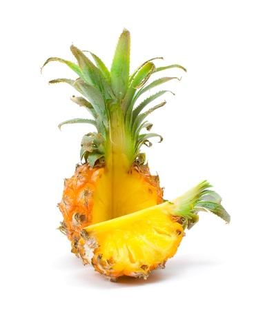 """""""Baby"""" mit einer Scheibe Ananas Standard-Bild - 12232641"""