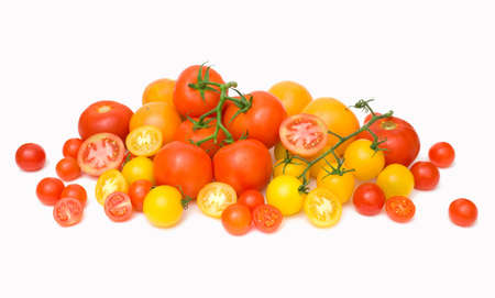 scattering: tomato scattering Stock Photo