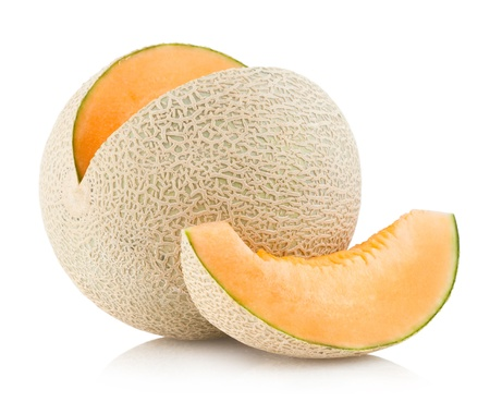 melon fruit: cantaloupe melon Stock Photo