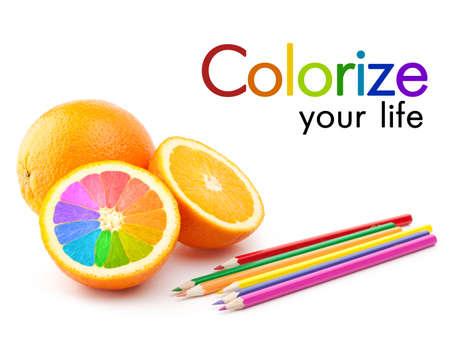 colorize: colorize your life concept