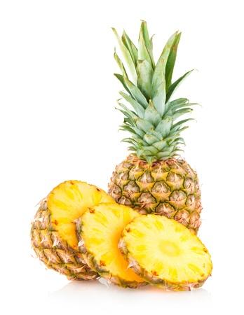 スライス パイナップル 写真素材