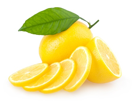 sliced lemon photo