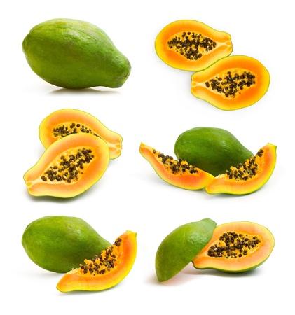Sammlung von papaya Bilder Standard-Bild - 13473009