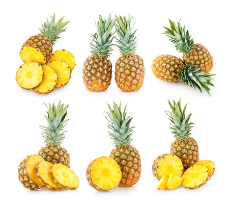 collection of 6 pineapple images Фото со стока