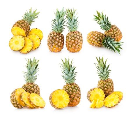 Sammlung von 6 Ananas Bilder Standard-Bild - 14037247