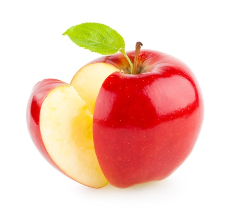 apple red: red apple Stock Photo