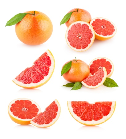 set of 6 grapefruit images
