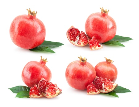 collection of 4 pomegranate images