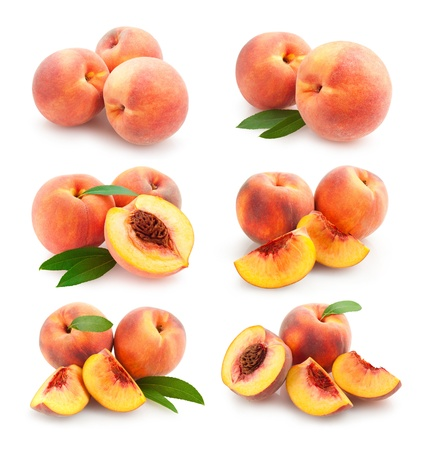 the peach: collection of 6 peach images
