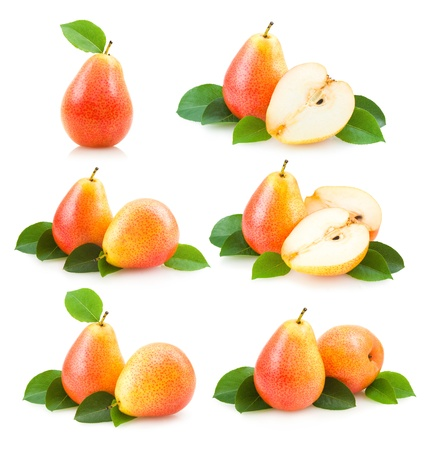 collection of 6 pear images Stock Photo