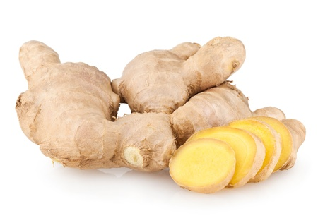 sliced ginger root Standard-Bild
