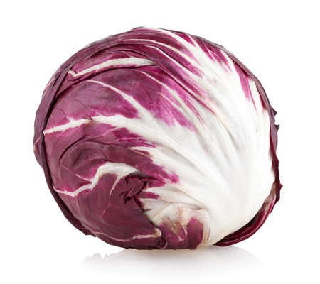 chicory: red cabbage radicchio isolated on white