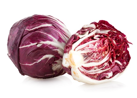 red cabbage radicchio isolated on white