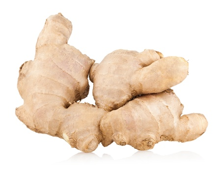 ginger root isolated on white photo