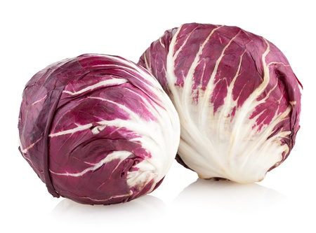 radicchio: red cabbage radicchio isolated on white