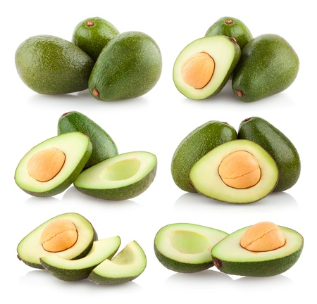 avocado: collection of avocado images Stock Photo