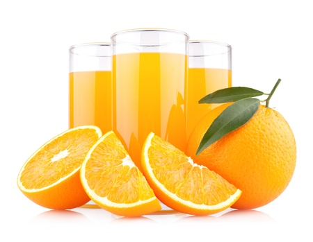 orange juice: orange juice with oranges