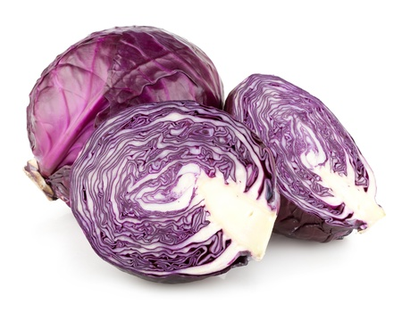 red cabbage: red cabbage isolated on white