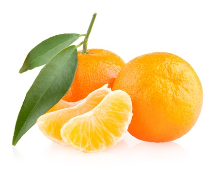 mandarins: ripe mandarins Stock Photo